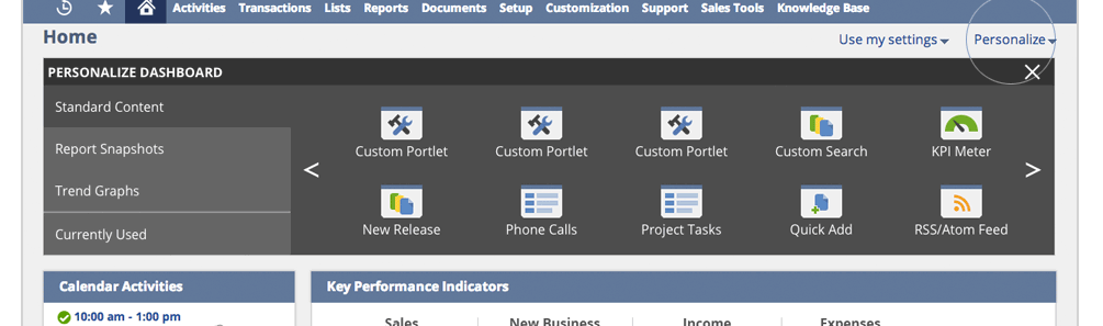 NetSuite 2014.2 Top of Page Sample